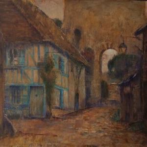 フランス風景画 黄昏のジェルブロワ 朝焼けのオンフルール 制作記録