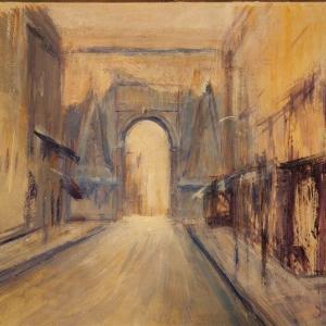 パリの街並み サンドニ門 風景画 アトリエ制作日記