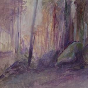 フランス風景画 妖精の森 落日 制作日記