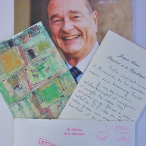 追悼 シラク大統領  Carte de nouvel an Jacques René Chirac