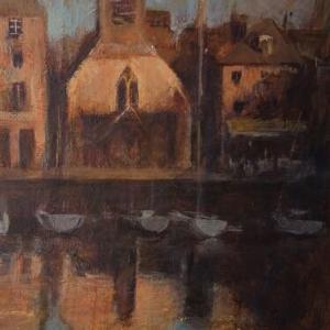 Dawn at Honfleur harbor  オンフルールの夜明け
