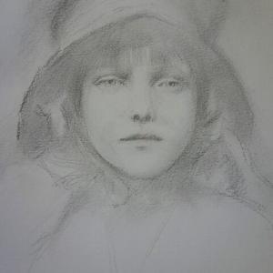 巴里の少女 素描