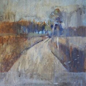 森へ続く道 絵画制作