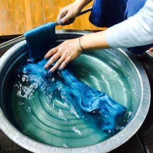 自然界からの贈り物ー藍染めーindigo dyeing