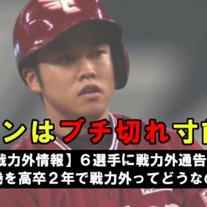 【戦力外情報】6選手に戦力外通告・・・西巻を高卒2年で戦力外ってどうなの?(楽天2019シーズン)