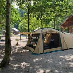 息子のキャンプサイト