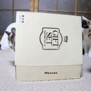 GIFTSET 箱と猫 Box and cat