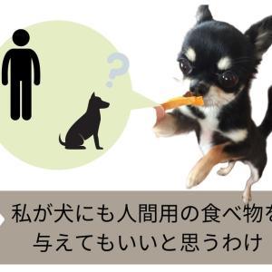 私が犬にも人間用の食べ物を与えてもいいと思うわけ