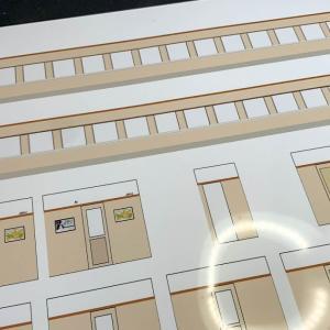 Fuji Model オロ42を作る 内装シールの作成