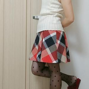 4月なのに寒い!冬服の着回しで春の服装に☆コンサバ系カジュアルコーデ