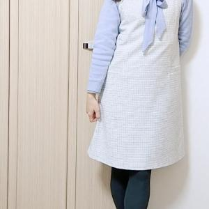 【カールパークレーン】ボウタイニットでコンサバ系☆大人のジャンパースカートコーデ