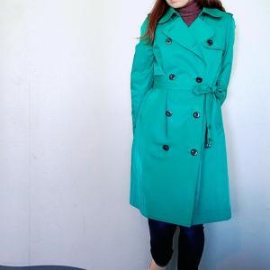 スプリングコートの出番☆グリーンのコートで春のオシャレに差をつける!