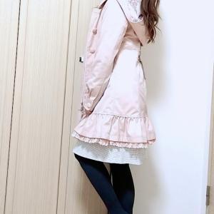 バックシャンな着こなしが叶う♡ずっとお気に入りのフェミニンなコート
