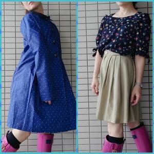 【コンサバ系ママコーデ】レインコートと雨の日のフェミニン系ファッション