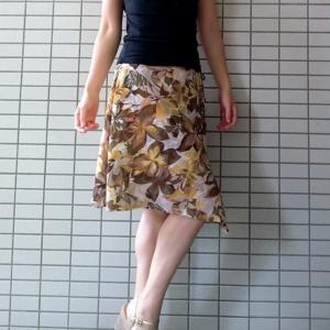 ボタニカル☆アースカラーの花柄スカートはお姉系神戸ブランドで♡
