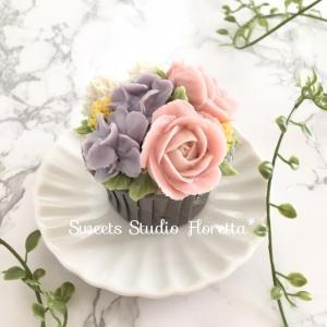 ALA餡クリームフラワーカップケーキ2 バラのカップケーキ