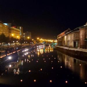 第22回小樽雪あかりの路③夜の運河