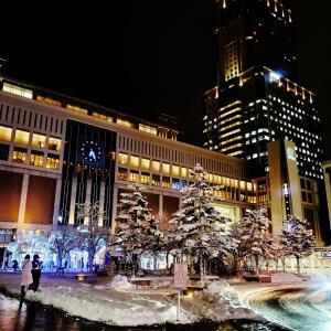 札駅前&南一条★雪のホワイトイルミ