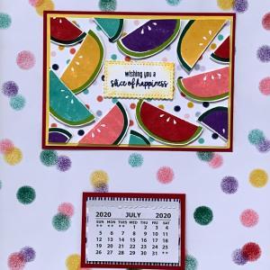 7月のカレンダーカード