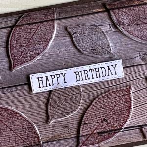 凸凹の誕生日カード