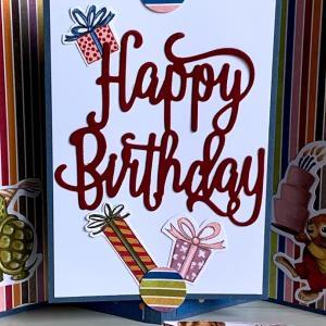 教えてもらったカードでHAPPY BIRTHDAY