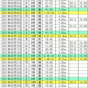 6月振り返り【油断と勘違い】連続ラン挑戦986日目