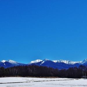 冬の北八ヶ岳にて(10)八ヶ岳ブルー