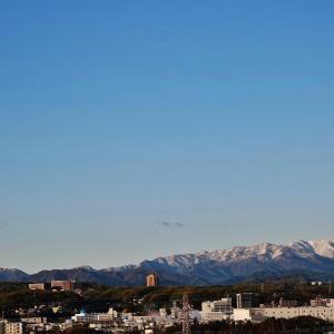 冠雪した今朝の丹沢山系