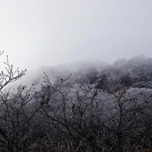 初冬の奥白根山 凍て付く頂きへ