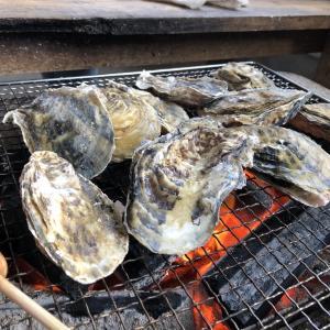 2019.02.01  娘と牡蠣焼き! 美味かったよ~。