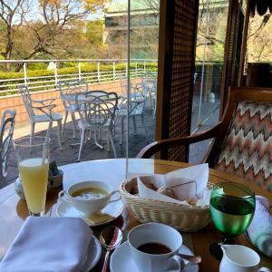【ホテルのラウンジ】ホテル椿山荘東京のラウンジ ル・ジャルダンで朝食 景色抜群のカフェ