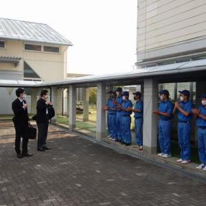 野上農林水産大臣と川勝知事による学園視察