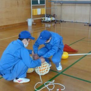 刺網実習の準備