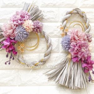 今年の花しめ縄*リース型とタッセル型どちらがお好きですかー?