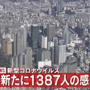 【速報】東京都で新たに1387人感染確認 ★3  [フラワー★]