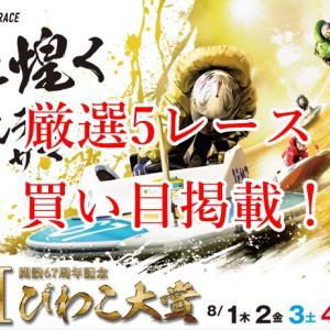 「競艇予想・びわこ」開設67周年記念G1びわこ大賞-最終日-買い目掲載!