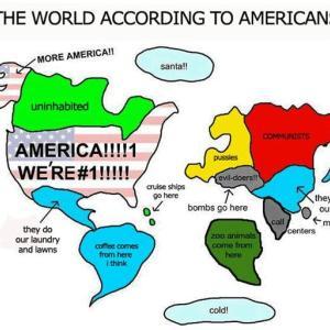 ツボにはまった世界地図