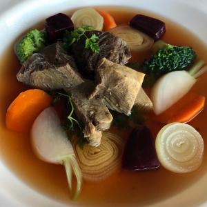 2019/10/02 水 出社 牛タンと牛ホホ肉 野菜のポトフ仕立て
