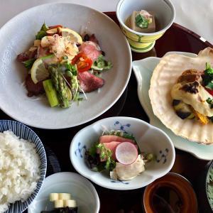 2019/10/15 火 出社 法蓮草の海鮮豆乳クリーム焼き