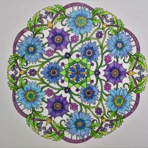 19-250 flower mandalas - 78