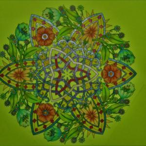 19-178  flower mandalas - 41