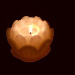 蝋燭の灯りに癒される