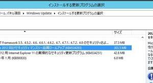 Windows Server2012 に今月の セキュリティ マンスリー品質ロールアップ(KB4534283)が配信されてきました。