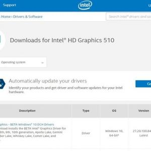 Intel Graphics - BETA Windows 10 DCH Deivers  Version:27.20.100.8425 がリリースされました。