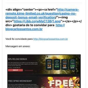 """差出人 """"div@blogcarlossantos.com.br"""" から意味不明のメールが来ました。"""
