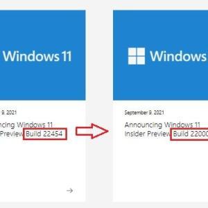 CPU 及び TPM2.0 が対応していない Windows 11 Insider Preview Dev チャンネルは、強制的にBeta チャネルに変更されました。