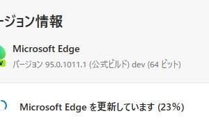 Microsoft Edge Dev チャンネルに、バージョン 95.0.1020.0 が降りてきました。