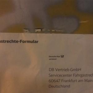 """DBの封筒""""Bitte freimachen""""の意味"""