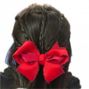 ゴムだけで出来る子供のヘアアレンジ〜三つ編みハーフアップ