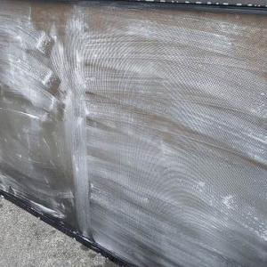 ホコリ撲滅! 北側洋間の窓2カ所のカーテン洗濯&網戸掃除&窓掃除